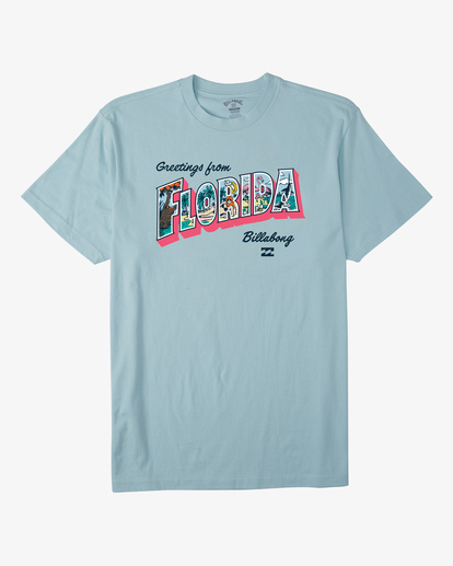 4 Greetings Florida Short Sleeve T-Shirt Blue ABYZT00362 Billabong