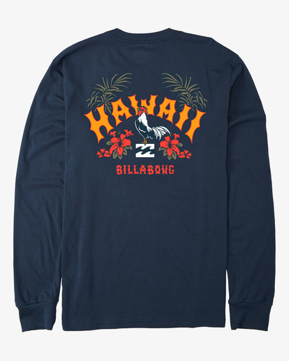 6 Arch Hawaii Long Sleeve T-Shirt Blue ABYZT00365 Billabong