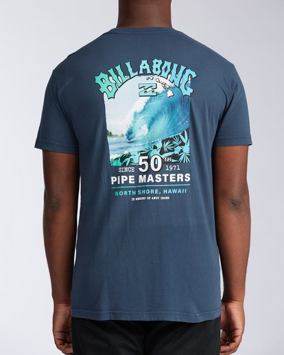 2 Pipe Masters Short Sleeve T-Shirt Blue ABYZT00376 Billabong