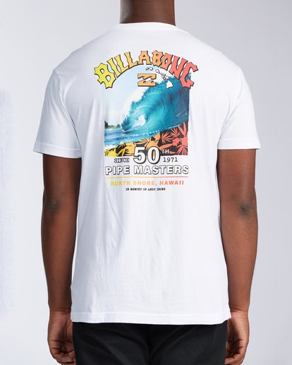 2 Pipe Masters Short Sleeve T-Shirt White ABYZT00376 Billabong