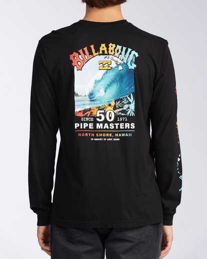 2 Pipe Masters Long Sleeve T-Shirt Black ABYZT00387 Billabong