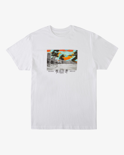 4 Waikiki Short Sleeve T-Shirt White ABYZT00392 Billabong