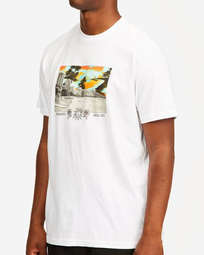 3 Waikiki Short Sleeve T-Shirt White ABYZT00392 Billabong