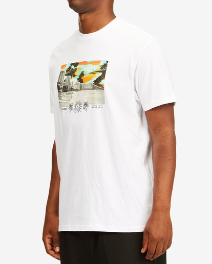 1 Waikiki Short Sleeve T-Shirt White ABYZT00392 Billabong