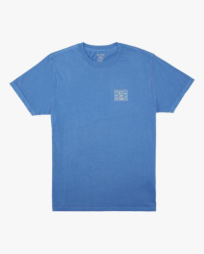 4 Crayon Wave Washed Short Sleeve T-Shirt Blue ABYZT00397 Billabong