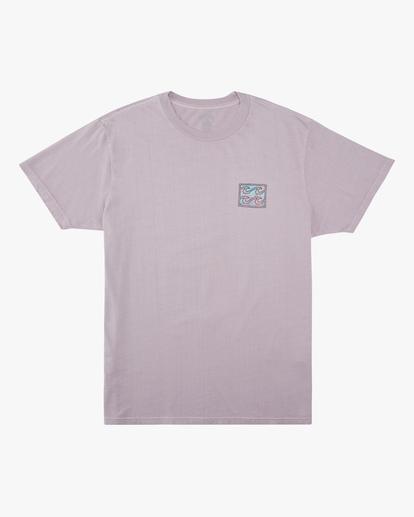 4 Crayon Wave Washed Short Sleeve T-Shirt Purple ABYZT00397 Billabong