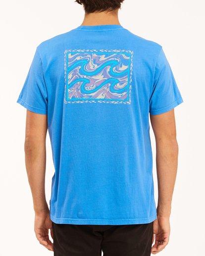 2 Crayon Wave Washed Short Sleeve T-Shirt Blue ABYZT00397 Billabong