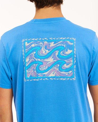 3 Crayon Wave Washed Short Sleeve T-Shirt Blue ABYZT00397 Billabong