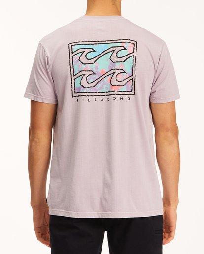 2 Crayon Wave Washed Short Sleeve T-Shirt Purple ABYZT00397 Billabong