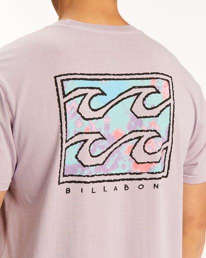 3 Crayon Wave Washed Short Sleeve T-Shirt Purple ABYZT00397 Billabong
