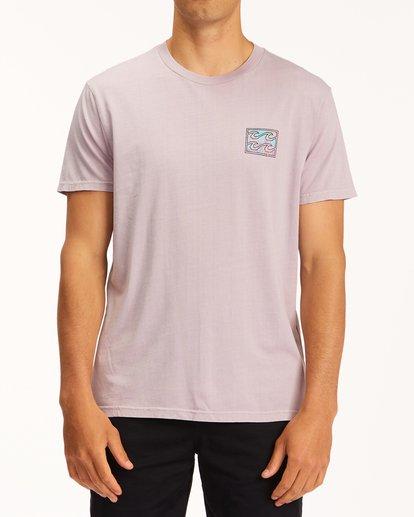 0 Crayon Wave Washed Short Sleeve T-Shirt Purple ABYZT00397 Billabong