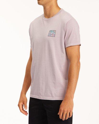 1 Crayon Wave Washed Short Sleeve T-Shirt Purple ABYZT00397 Billabong