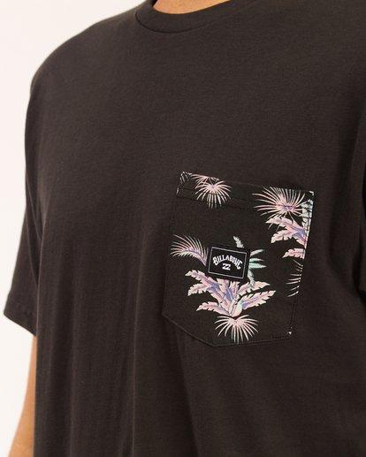 3 Team Pocket T-Shirt Black ABYZT00508 Billabong