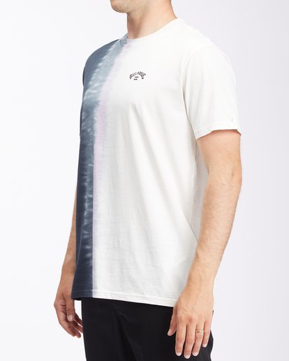 1 Arch Wave Tie-Dye Short Sleeve T-Shirt White ABYZT00511 Billabong