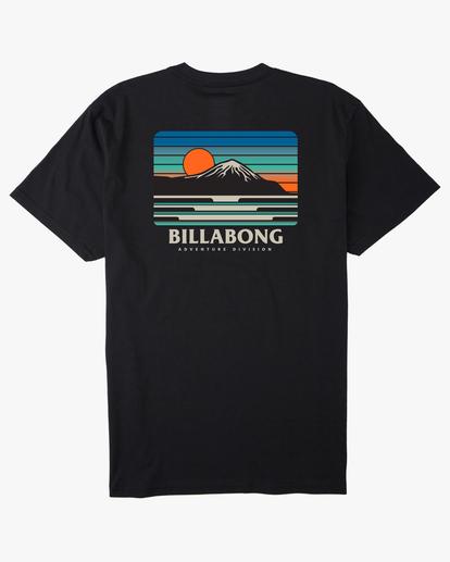 4 A/Div Lines Short Sleeve T-Shirt Black ABYZT00541 Billabong
