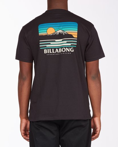 2 A/Div Lines Short Sleeve T-Shirt Black ABYZT00541 Billabong