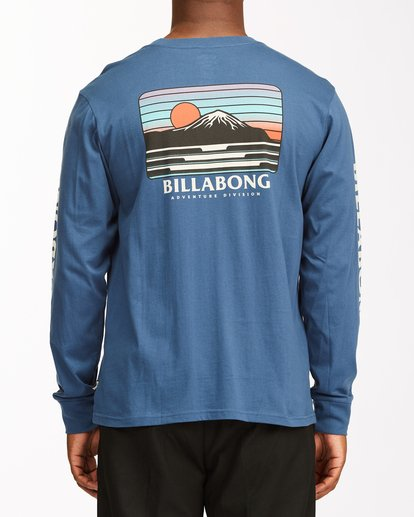 3 A/Div Lines Long Sleeve T-Shirt Blue ABYZT00546 Billabong
