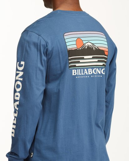 4 A/Div Lines Long Sleeve T-Shirt Blue ABYZT00546 Billabong