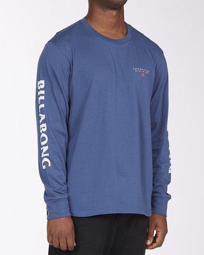 2 A/Div Lines Long Sleeve T-Shirt Blue ABYZT00546 Billabong