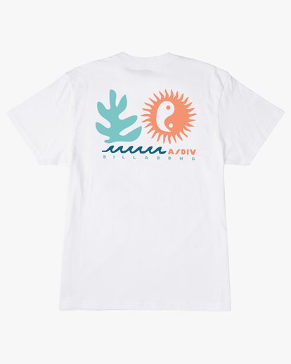 6 A/Div Wonders Short Sleeve T-Shirt White ABYZT00563 Billabong