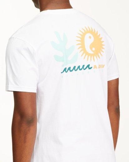 3 A/Div Wonders Short Sleeve T-Shirt White ABYZT00563 Billabong
