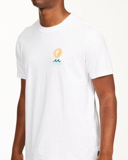 4 A/Div Wonders Short Sleeve T-Shirt White ABYZT00563 Billabong