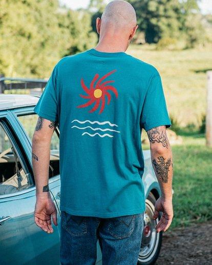 0 Wrangler Day Light Short Sleeve T-Shirt Green ABYZT00572 Billabong