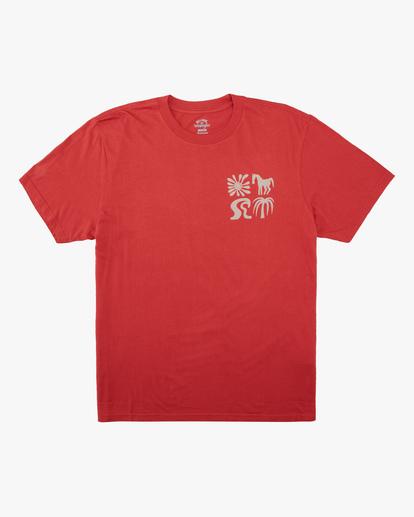 5 Wrangler Lands Short Sleeve T-Shirt Red ABYZT00573 Billabong