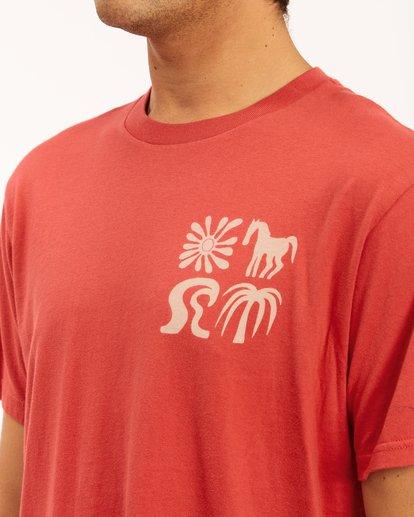 4 Wrangler Lands Short Sleeve T-Shirt Red ABYZT00573 Billabong