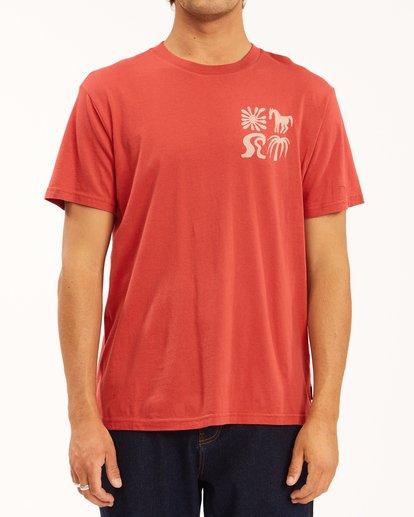 1 Wrangler Lands Short Sleeve T-Shirt Red ABYZT00573 Billabong
