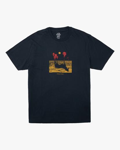 4 Wrangler Mirage Short Sleeve T-Shirt Blue ABYZT00574 Billabong