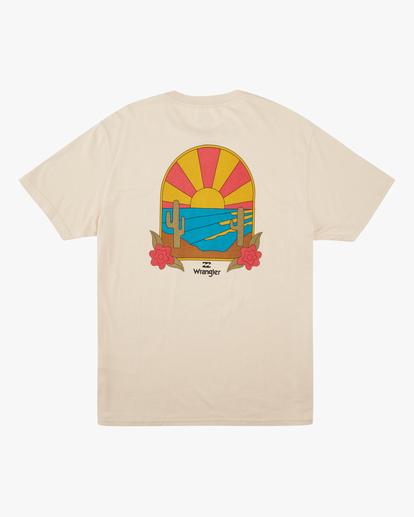 7 Wrangler Saguaro Short Sleeve T-Shirt White ABYZT00575 Billabong