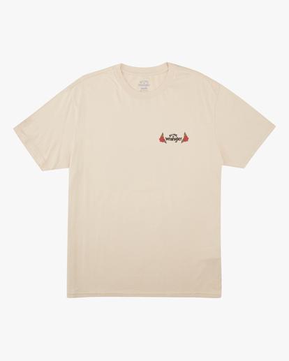 6 Wrangler Saguaro Short Sleeve T-Shirt White ABYZT00575 Billabong