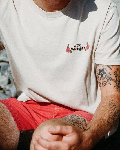 1 Wrangler Saguaro Short Sleeve T-Shirt White ABYZT00575 Billabong
