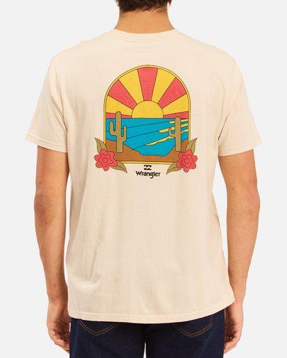 4 Wrangler Saguaro Short Sleeve T-Shirt White ABYZT00575 Billabong