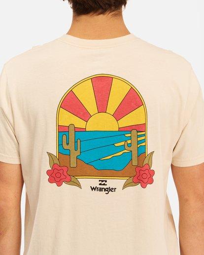 5 Wrangler Saguaro Short Sleeve T-Shirt White ABYZT00575 Billabong