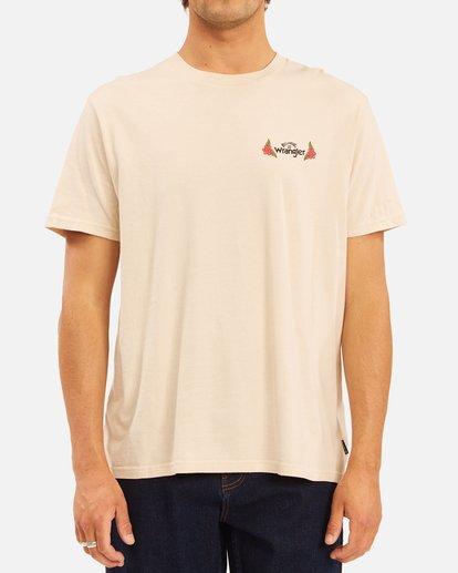 2 Wrangler Saguaro Short Sleeve T-Shirt White ABYZT00575 Billabong