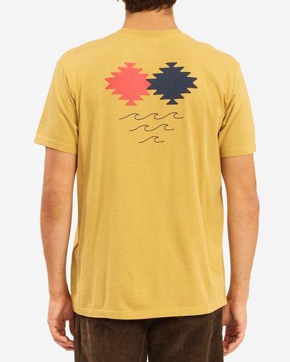 2 Wrangler Eclipse Short Sleeve T-Shirt Beige ABYZT00576 Billabong
