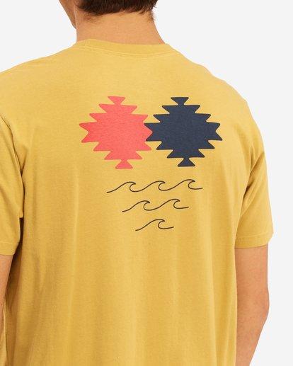 3 Wrangler Eclipse Short Sleeve T-Shirt Beige ABYZT00576 Billabong