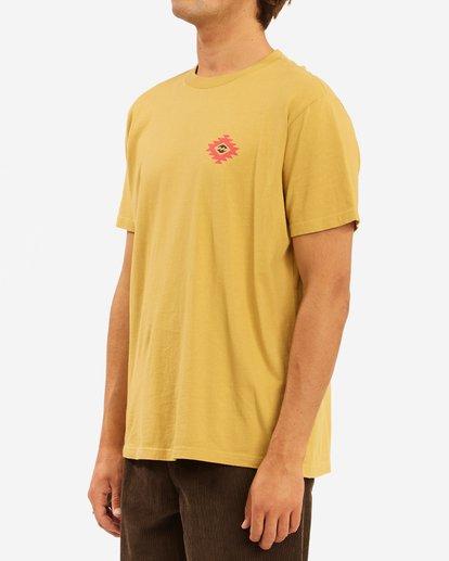 1 Wrangler Eclipse Short Sleeve T-Shirt Beige ABYZT00576 Billabong