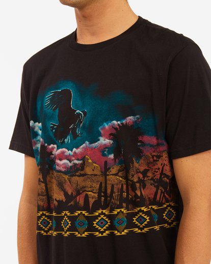 4 Wrangler Night Trip Short Sleeve T-Shirt Black ABYZT00577 Billabong