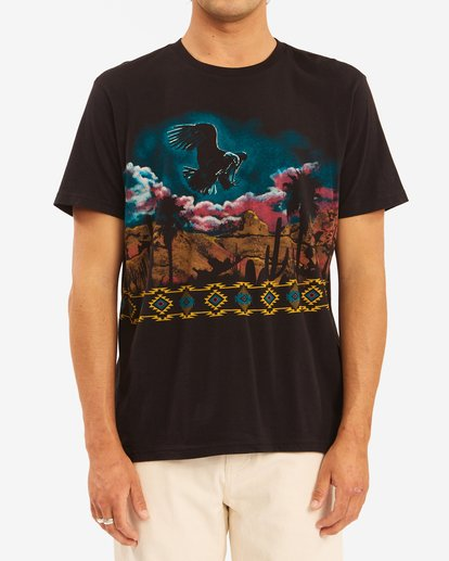 1 Wrangler Night Trip Short Sleeve T-Shirt Black ABYZT00577 Billabong