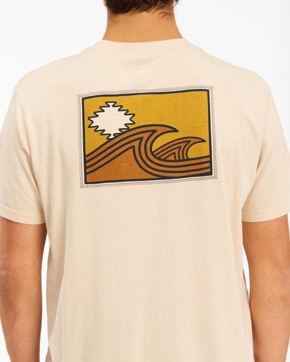 4 Wrangler Sandwave Short Sleeve T-Shirt White ABYZT00578 Billabong