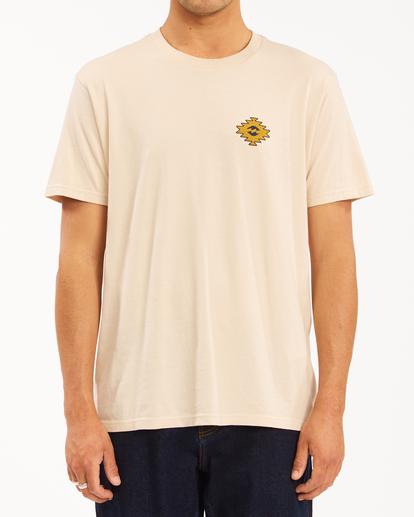1 Wrangler Sandwave Short Sleeve T-Shirt White ABYZT00578 Billabong