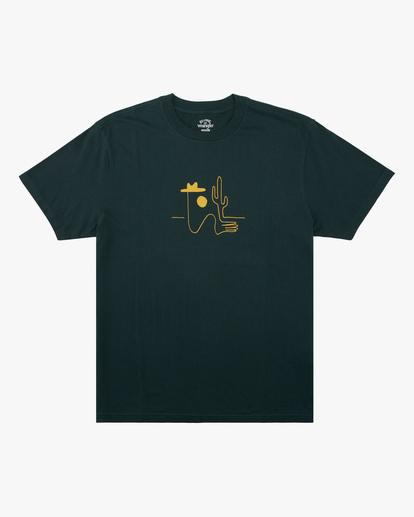 5 Wrangler Sleepwalker Short Sleeve T-Shirt Green ABYZT00579 Billabong