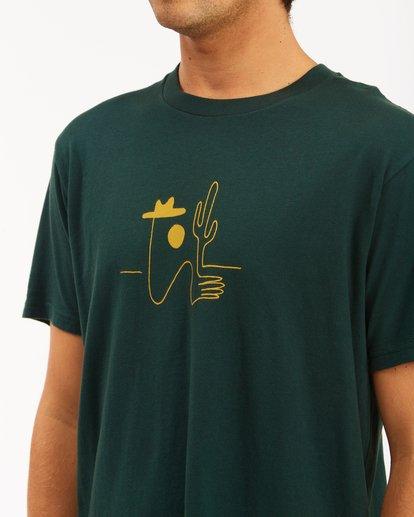 4 Wrangler Sleepwalker Short Sleeve T-Shirt Green ABYZT00579 Billabong