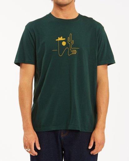 1 Wrangler Sleepwalker Short Sleeve T-Shirt Green ABYZT00579 Billabong
