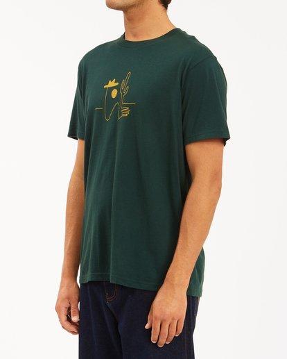 2 Wrangler Sleepwalker Short Sleeve T-Shirt Green ABYZT00579 Billabong