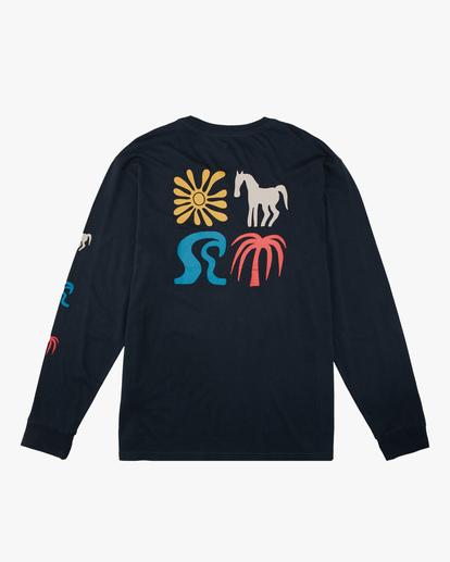 7 Wrangler Lands Long Sleeve T-Shirt Blue ABYZT00580 Billabong