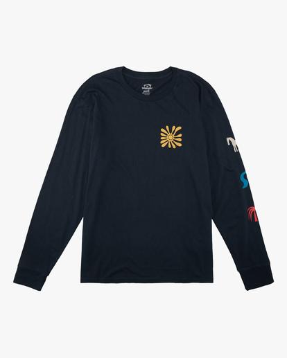 6 Wrangler Lands Long Sleeve T-Shirt Blue ABYZT00580 Billabong